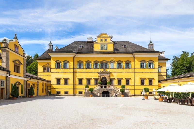 Schloss Hellbrunn -夏天在萨尔茨堡, Austr附近的住所宫殿 库存图片