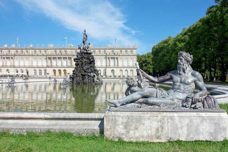 Schloss Herrenchiemsee stockbild