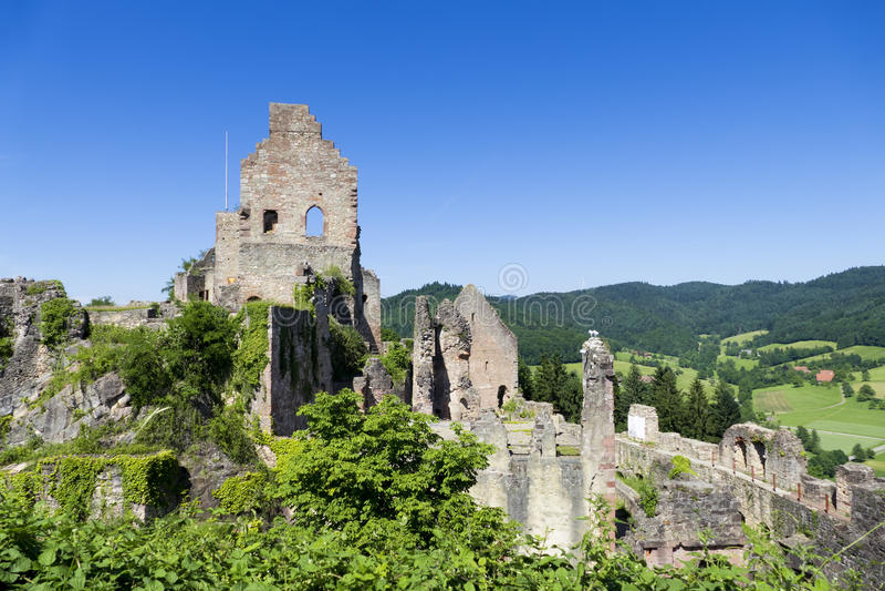 Schloss Hochburg bei Emmendingen stockfoto