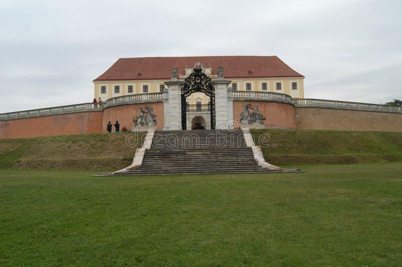 Schloss Hof. The gate of the castle of Schloss Hof stock photos
