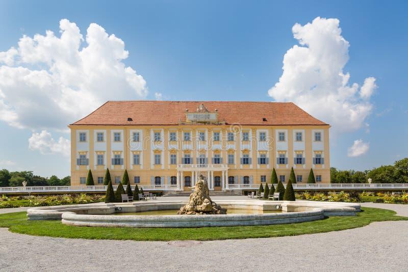 Schloss Hof castle with baroque garden, Austria. Schloss Hof castle with baroque garden in Lower Austria stock photography