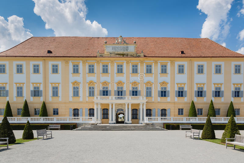 Schloss Hof castle with baroque garden, Austria royalty free stock photography