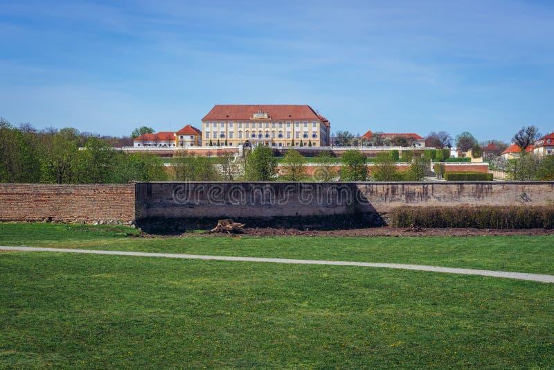 Schloss Hof castle. In Austria close to the border with Slovakia in Devinska Nova Ves royalty free stock images