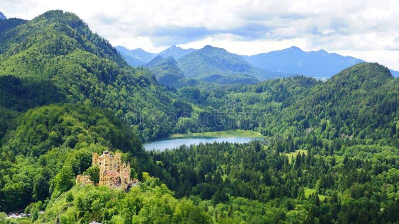 Schloss hohenschwangau zdjęcia royalty free