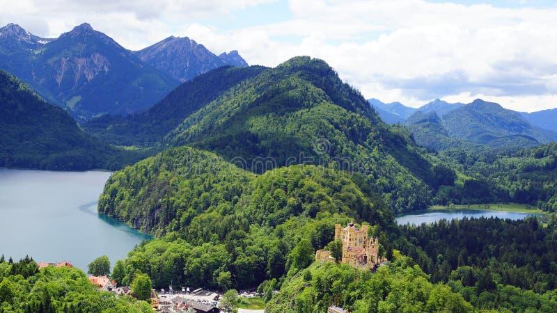 Schloss hohenschwangau fotografia royalty free