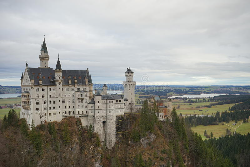 Schloss il Neuschwanstein fotografie stock libere da diritti