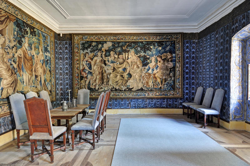 Schloss-Innenraum stockfotos