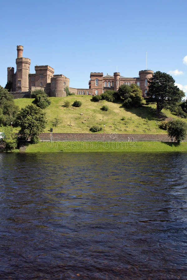 Schloss in Inverness stockbild