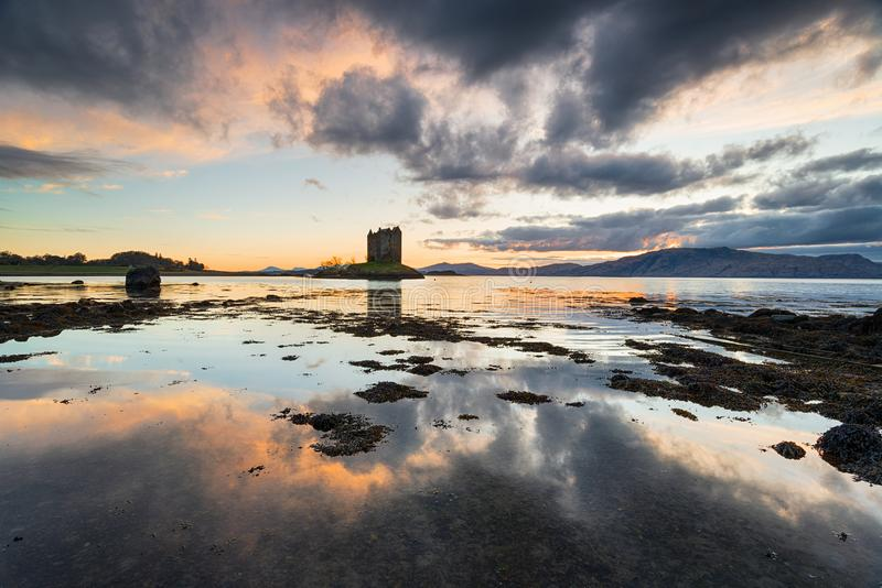 Schloss-Jäger in Schottland stockfotos