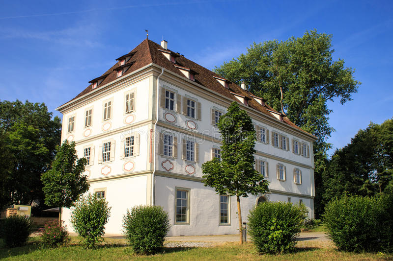 Schloss in Koengen. KOENGEN, GERMANY - JUNE 21, 2014: Castle in Köngen, used today for cultural events and Headquarters of the Consulting company Staufen AG stock image