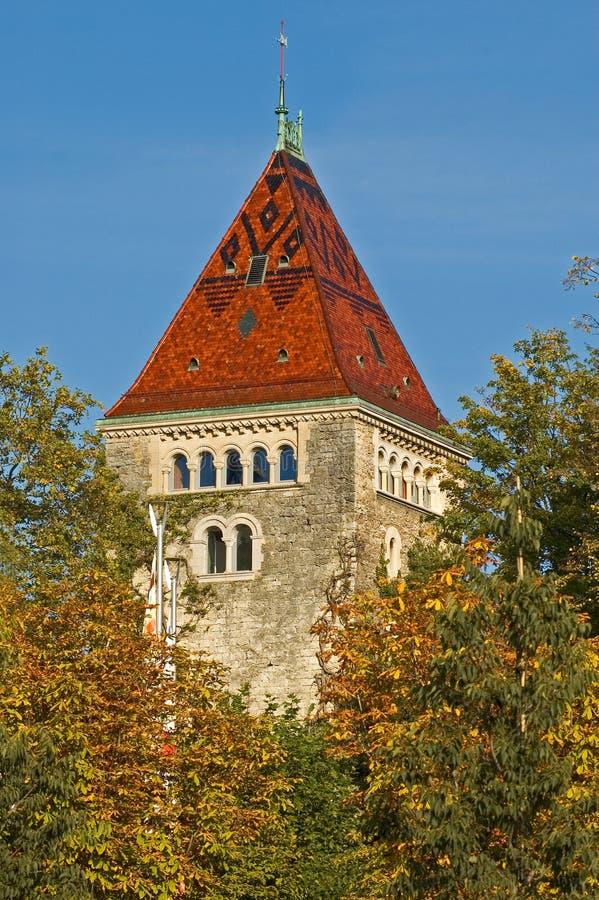 Schloss-Kontrollturm lizenzfreie stockfotos