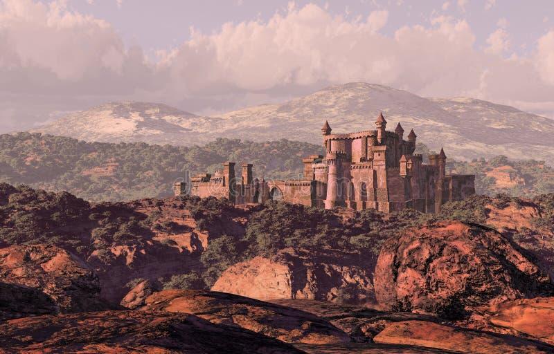 Schloss-Landschaft lizenzfreie abbildung