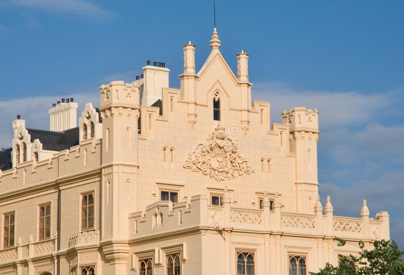 Schloss Lednice, Tschechische Republik stockfotografie