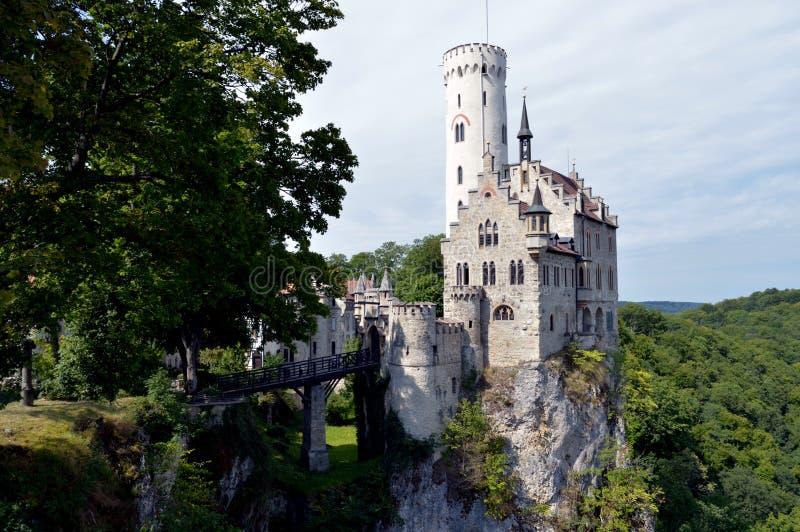 Schloss Lichtenstein deutschland lizenzfreie stockfotos