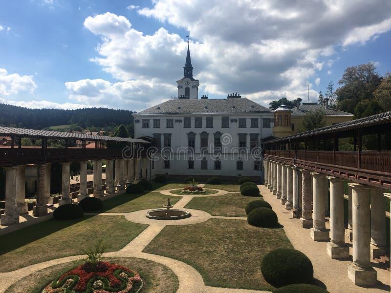 Schloss Lysice stockfotos
