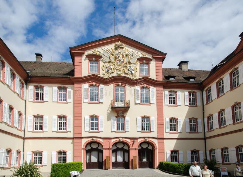 Schloss Mainau kasztelu Mainau wyspa, Konstanz, Baden-Wurttemberg, Niemcy obrazy stock