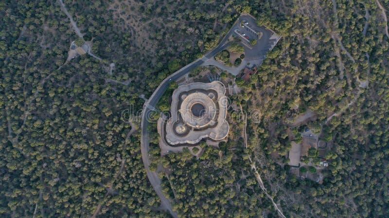 Schloss in Mallorca stockbilder