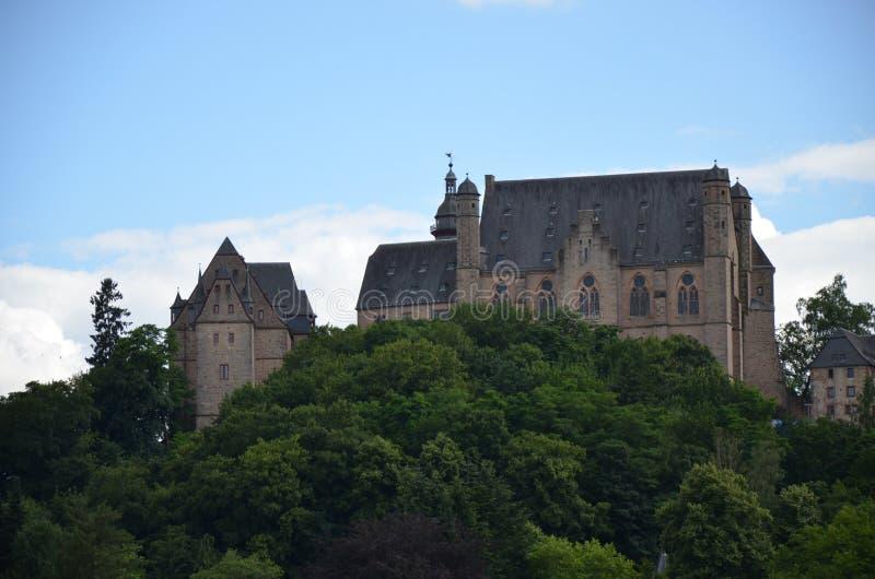 Schloss in Marburg, Deutschland stockfotografie