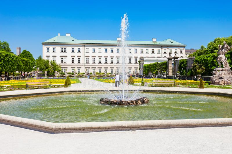 Schloss Mirabell宫殿,萨尔茨堡 免版税库存图片