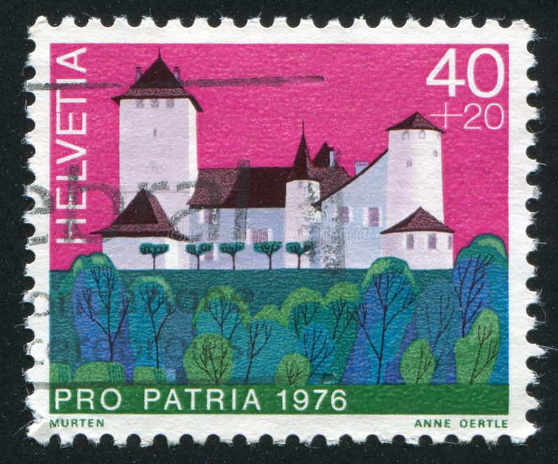 Schloss Murten lizenzfreies stockbild