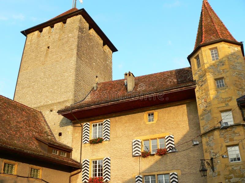 Download Schloss, Murten ( Schweiz ) Stock Image - Image: 24534253