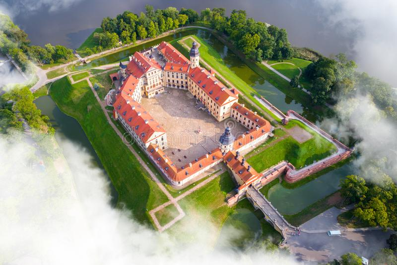 Schloss in Nesvizh, Minsk-Region, Weißrussland stockbilder
