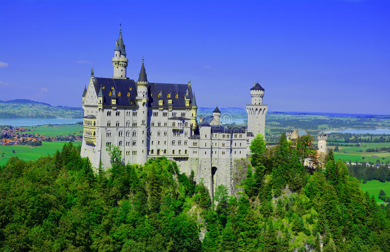 Schloss Neuschwanstein stock photo