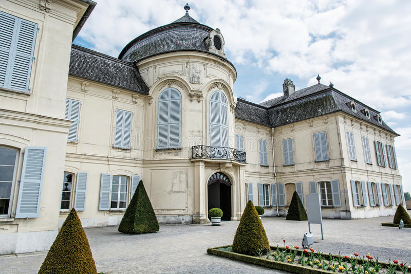 Schloss Niederweiden在奥地利,细节照片 免版税库存照片