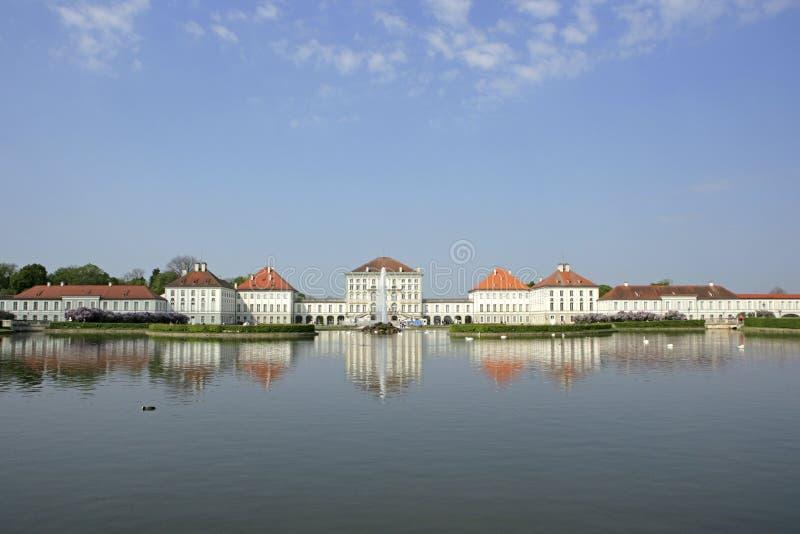 Schloss Nymphenburg宫殿在慕尼黑,巴伐利亚 免版税库存照片