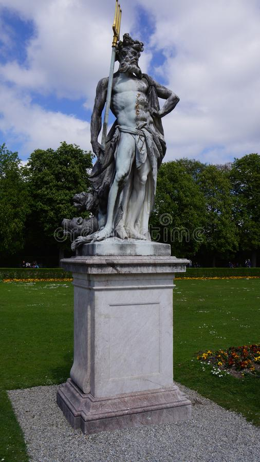 schloss nymphenburg kasztelu bavaria Munich jeziora parka stawowa rzeźba obrazy stock