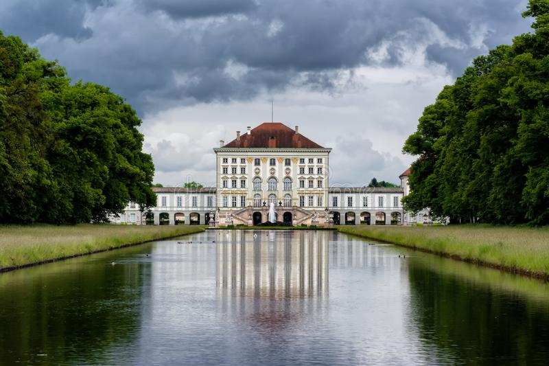 Schloss Nymphenburg, Munich Germany Overcast Weather Architecture Destination royalty free stock image