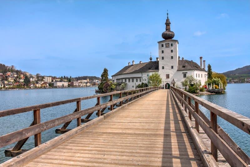 Schloss Ort,格蒙登,奥地利 免版税库存图片