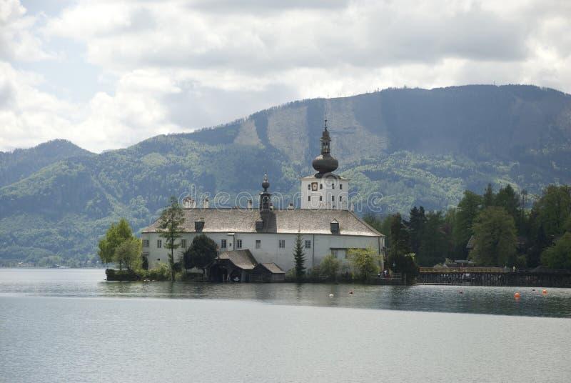 Schloss ort, gmunden -上奥地利 库存照片