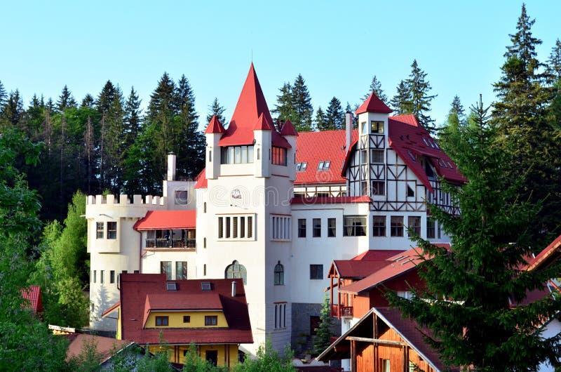 Schloss in Poiana Brasov stockbild