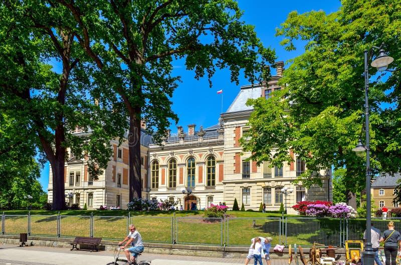Schloss in Pszczyna-Stadt in Polen lizenzfreies stockfoto