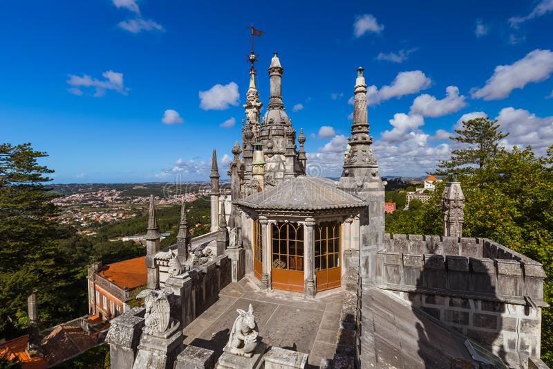 Schloss Quinta da Regaleira - Sintra Portugal stockfotografie