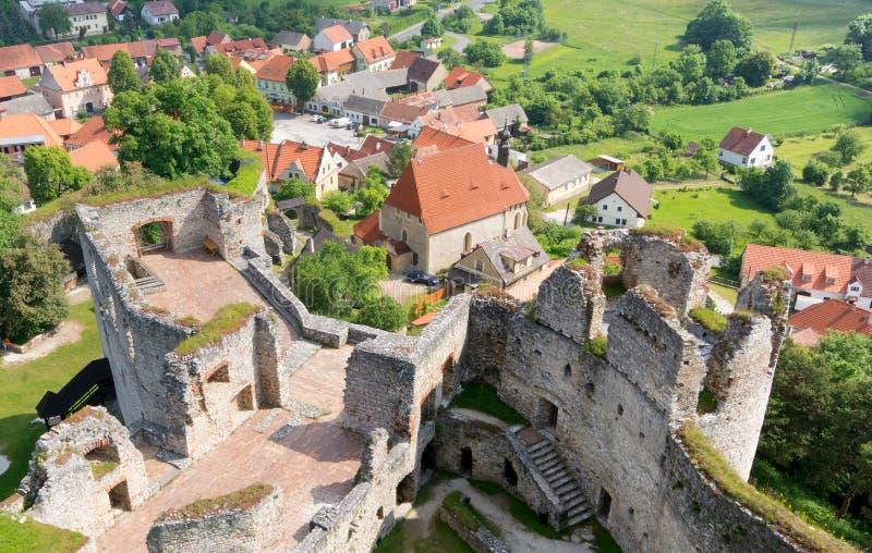 Schloss Rabi lizenzfreie stockbilder