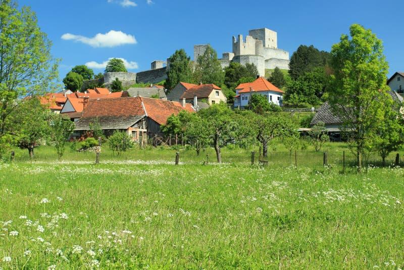 Schloss Rabi stockfotos