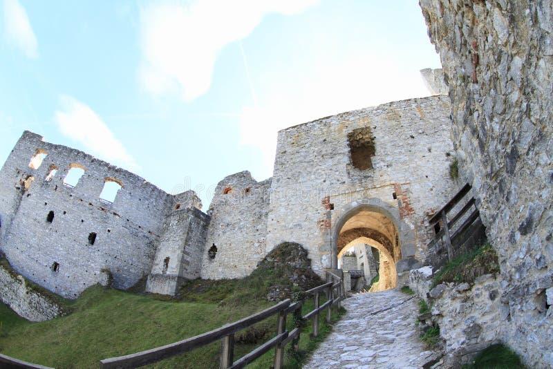 Schloss Rabi stockbild