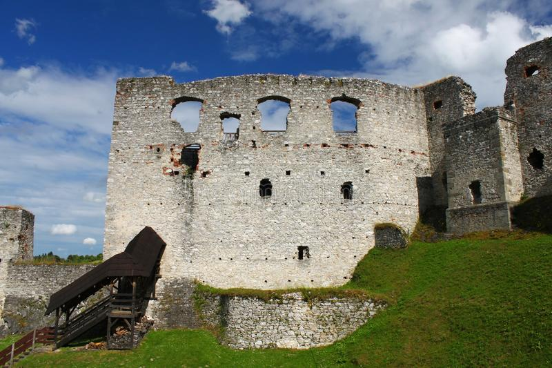 Schloss Rabi Süd-Böhmen lizenzfreie stockfotografie