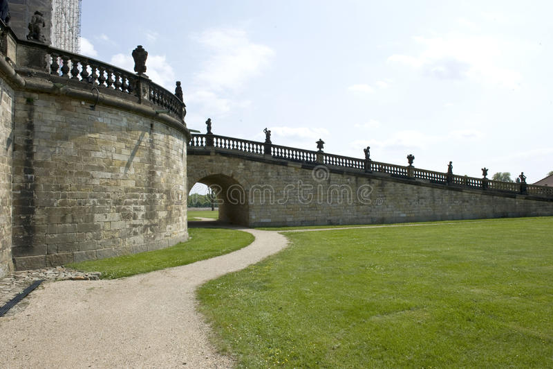 Schloss-Rampe stockfoto