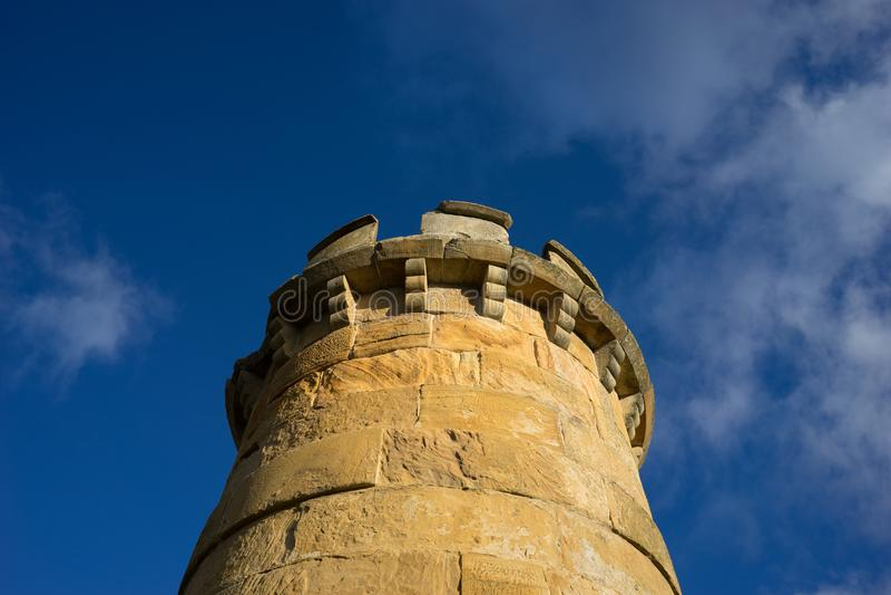 Schloss ruiniert Turm stockfotos