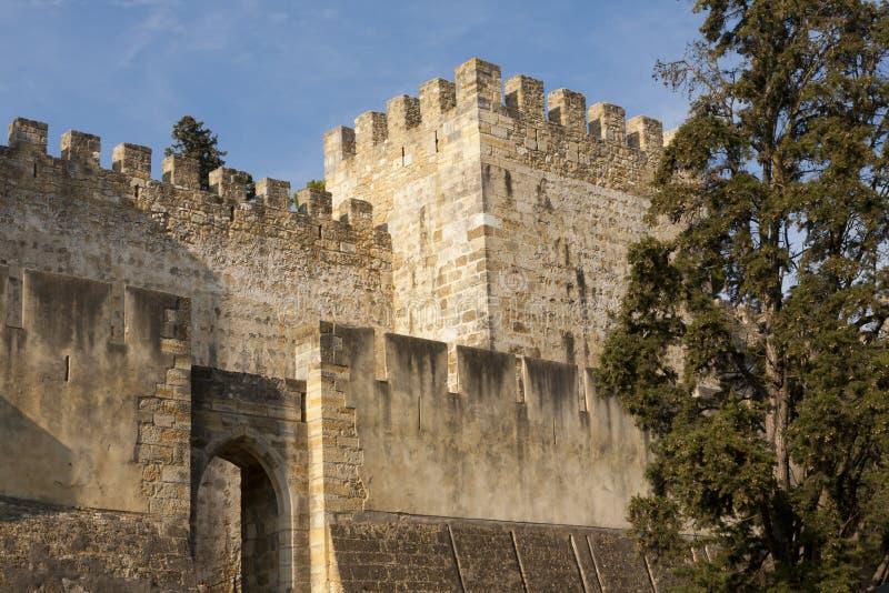 Schloss S.-Jorge lizenzfreies stockfoto