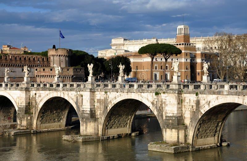 Schloss San Angelo in Rom, Italien lizenzfreies stockbild