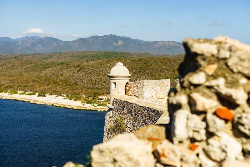 Schloss San Pedro de la Roca del Morro, Santiago de Cuba, Kuba stockfotografie