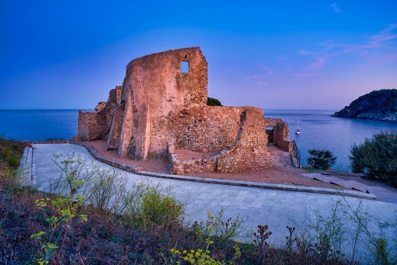 Schloss Sant Esteve Palamos, Girona, Katalonien, Spanien stockfotos