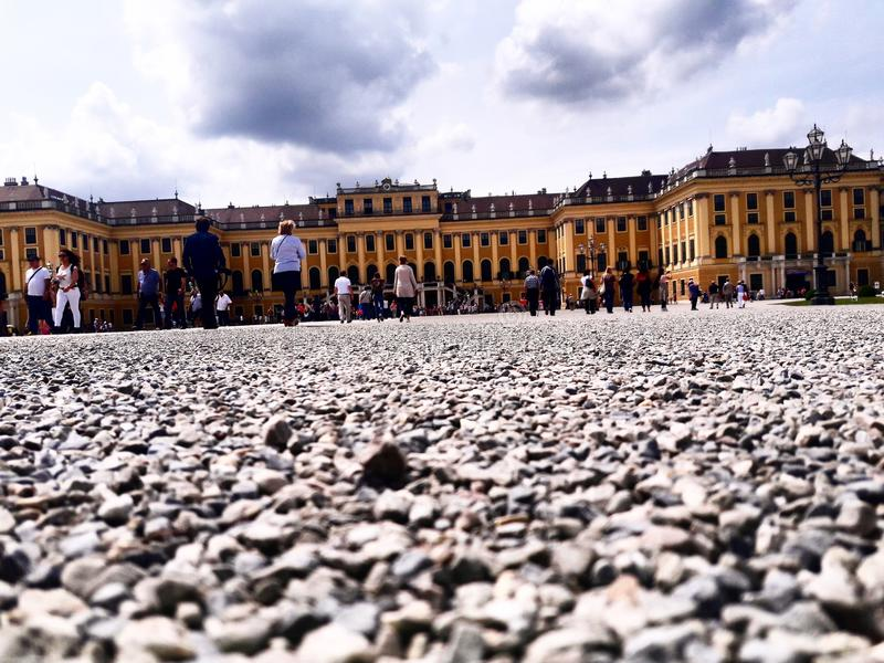 Schloss Schönbrunn royaltyfria bilder