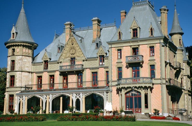 Schloss Schadau lizenzfreie stockbilder