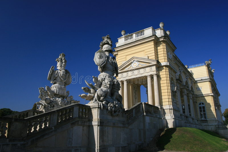 Schloss Schonbrunn stock fotografie