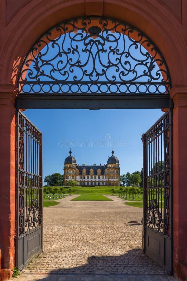 Schloss Seehof梅梅尔斯多尔夫-德国 库存照片